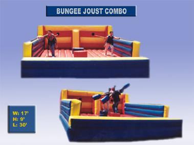 Bungee Run & Joust Combo as low as $299 a day.  Just want one?  Get either the Bungee Run or the Joust for just $269 per day.
